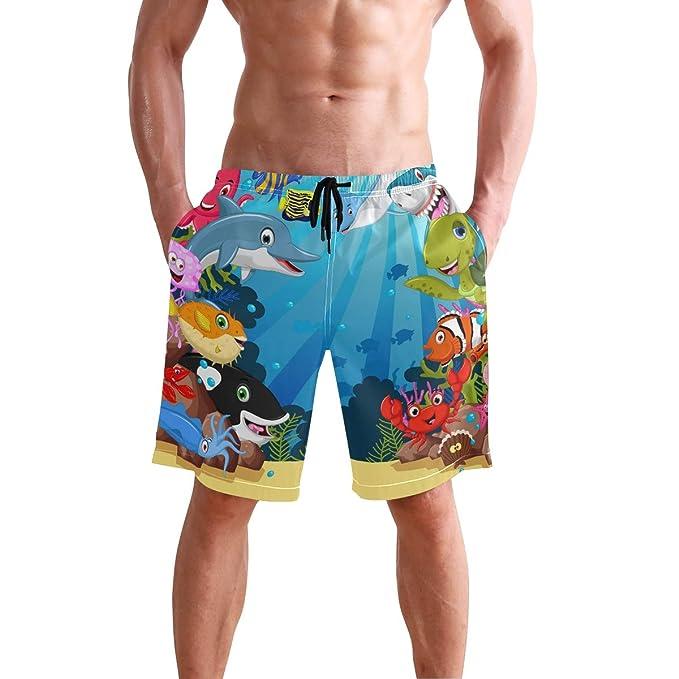 Amazon.com: Bañador para hombre, secado rápido, cangrejo ...