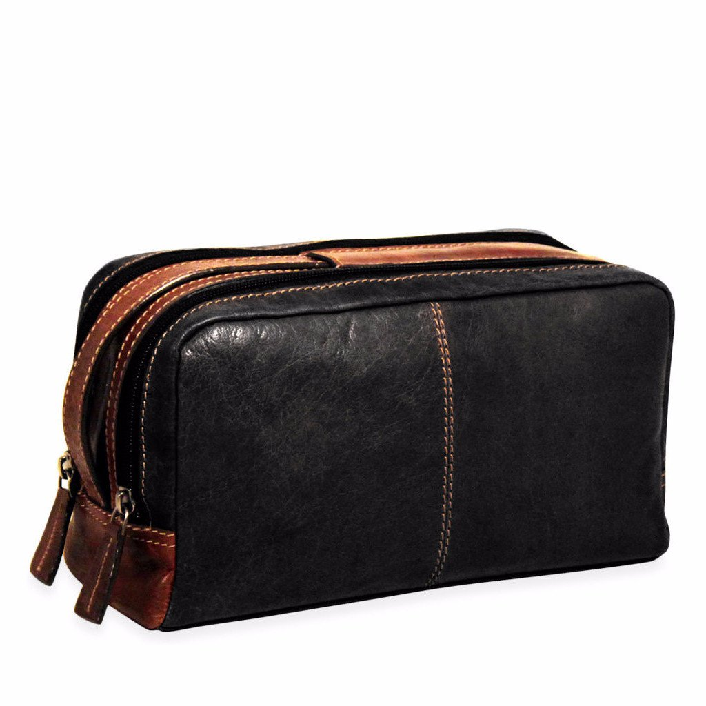 Jack Georges Voyager Collection Toiletry Bag in Black