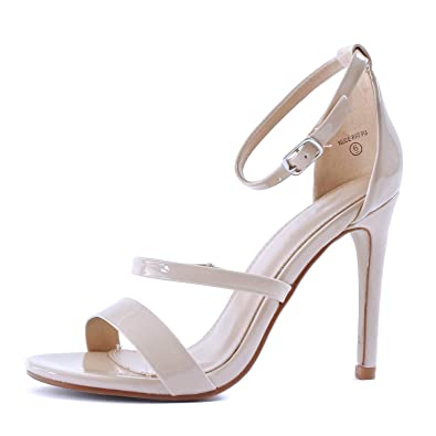 fa46e267a08d1 Guilty Shoes Women Sexy Metallic Ankle Strap Open Toe Party Stiletto High  Heel Sandals