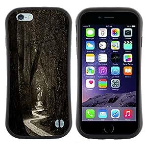"Hypernova Slim Fit Dual Barniz Protector Caso Case Funda Para Apple (4.7 inches!!!) iPhone 6 / 6S (4.7 INCH) [Significado Bosque Negro Blanco Naturaleza""]"