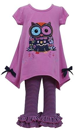 ad62204f5a68 Amazon.com  Bonnie Baby Baby-Girls Infant Magenta OWL Applique Hanky ...
