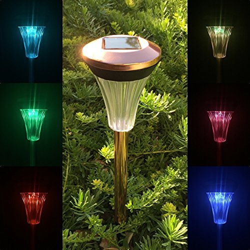 Copper Finish Solar Lights - 1