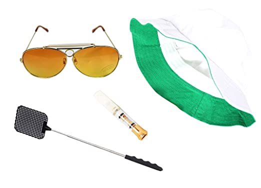 09290bf0a8d Image Unavailable. Image not available for. Color  Fear   Loathing Las  Vegas Hat Orange Sun Glasses Cigarette Holder Flyswatter