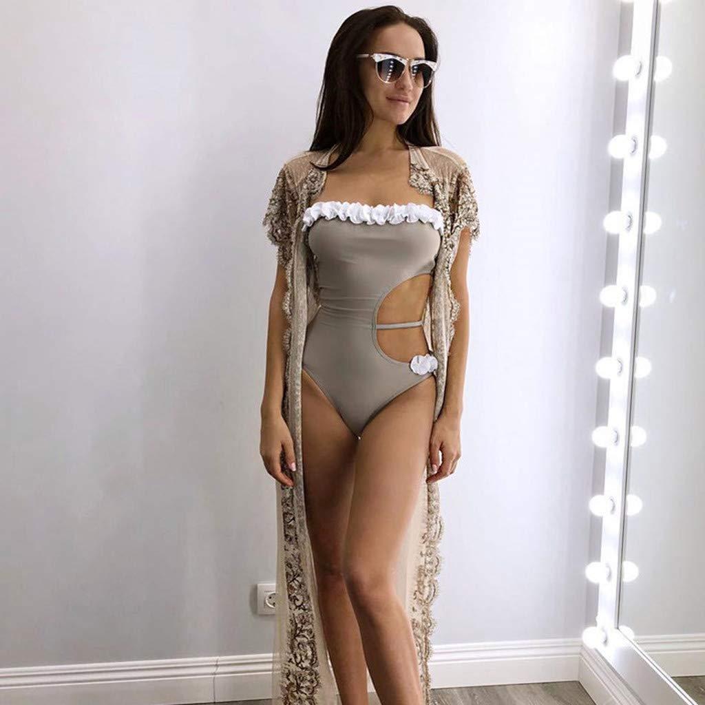 Floral de Las Mujeres de la Vendimia de impresión Totem Empuja hacia Arriba Atractivo de baño Bikini: Amazon.es: Electrónica
