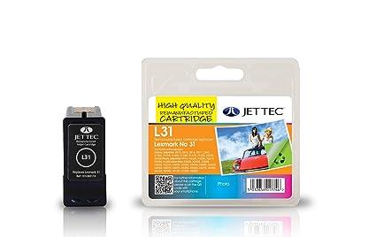 Jet Tec 18C0031 - Cartucho de tinta para impresoras (Negro, Lexmark All-in