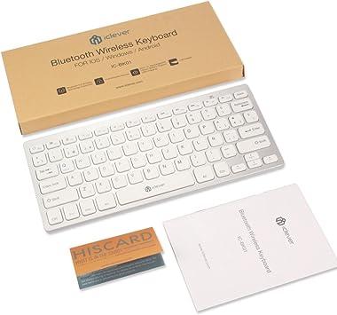 iClever Mini Teclado inalámbrico Bluetooth 3.0 Ultra Delgado ...