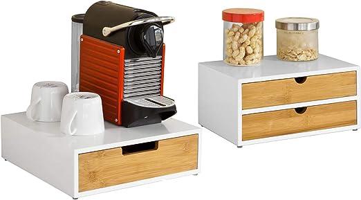 SoBuy® - Pequeño armario para guardar cápsulas de café, el mando ...