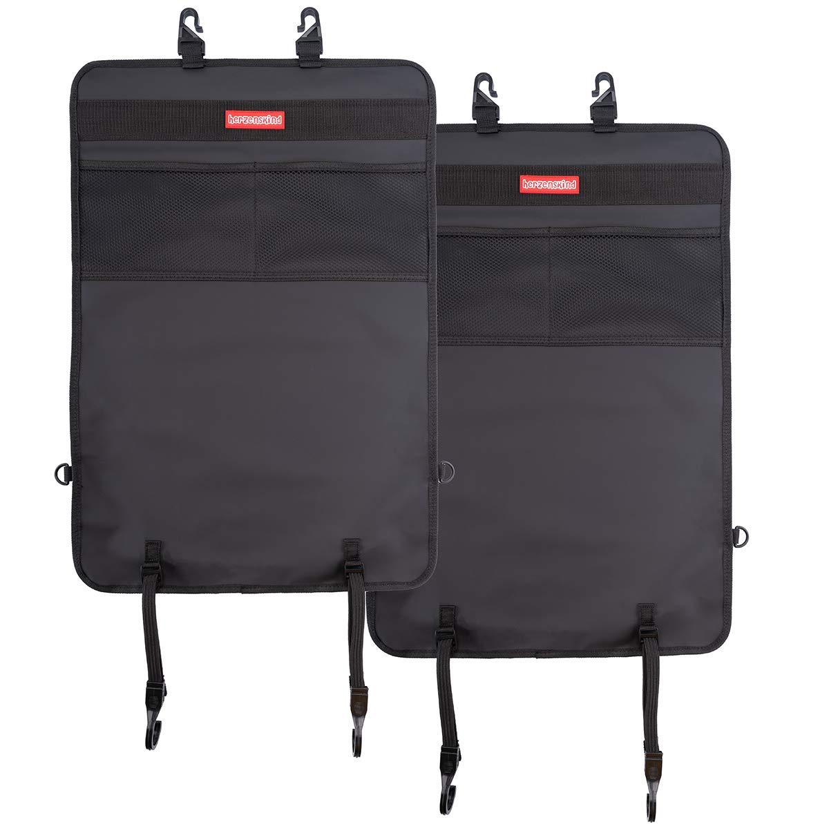 Sch/ützt Ihre Autositze vor Schmutz Herzenskind R/ücklehnenschutz und Organizer schwarz
