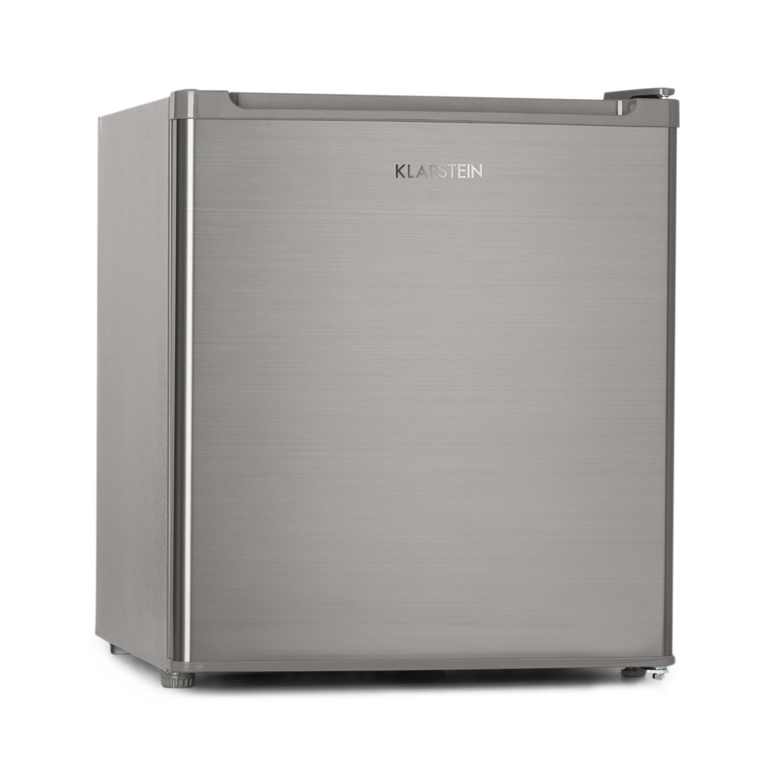 Klarstein Garfield Eco Congélateur 4 étoiles Capacité nette de 34 litres 117 kWh/an 2 niveaux 41 dB Tablette amovible Autonome Gain de place Env. 44 x 52 x 47 cm (LxHxP) argent [Classe énergétique A++]
