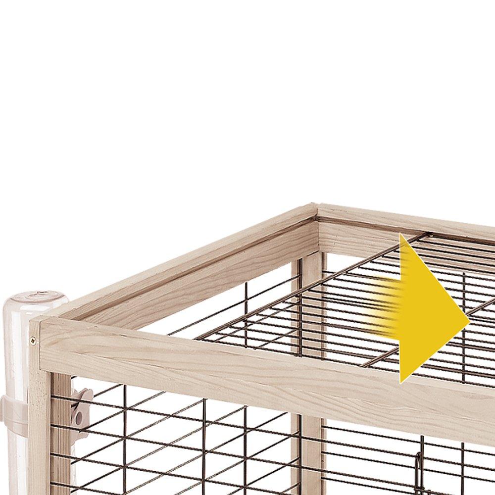 Ferplast Arena 100 Rabbit Habitat, Elegant Wooden Structure, Black by Ferplast (Image #3)
