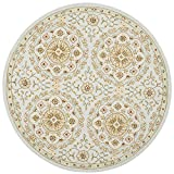 Safavieh Chelsea Collection HK378A Hand-Hooked Teal and Green Premium Wool Round Area Rug (3′ Diameter) Review