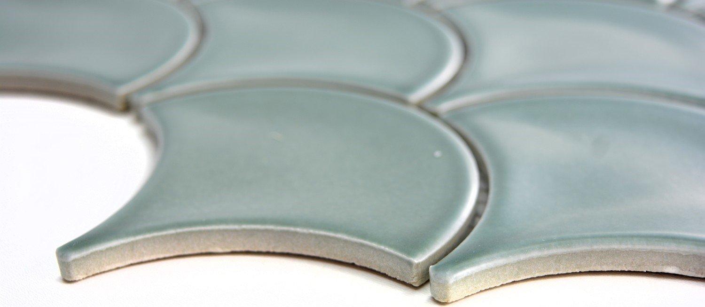 Mosaik Fliese Keramik F/ächer petrol gl/änzend f/ür WAND BAD WC DUSCHE K/ÜCHE FLIESENSPIEGEL THEKENVERKLEIDUNG BADEWANNENVERKLEIDUNG Mosaikmatte Mosaikplatte