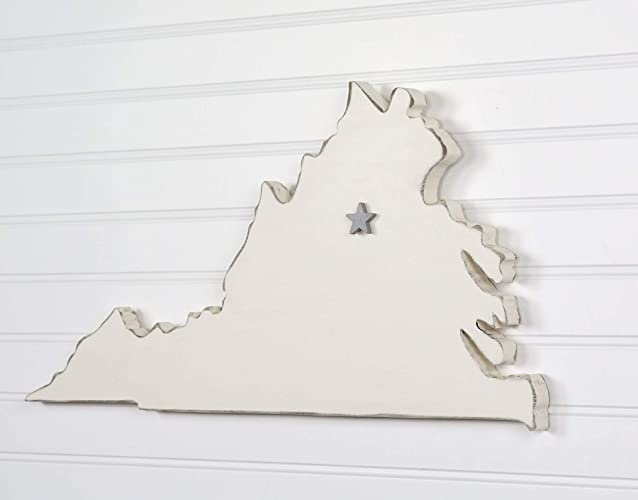 23 Wide Personalized with Choice of Wooden Dimensional Heart or Star at Hometown Location. North Carolina State Shape Wood Cutout Sign Wall Art 20 Paint Colors