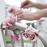 Sass & Belle Rose Garland - Ivory / Dark Pink - Length 142 cm NEW FOR 2016