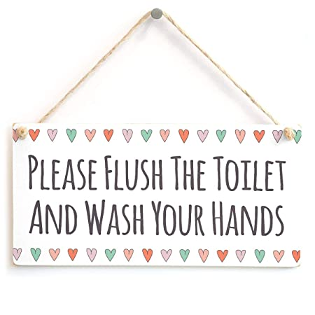 Please Flush The Toilet And Wash Your Hands Nombre de la ...