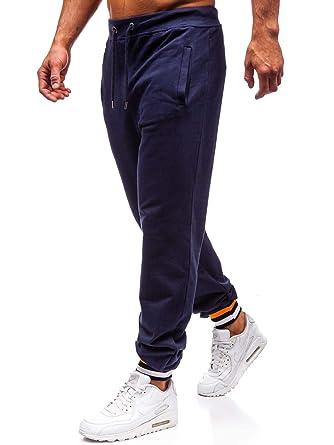 0ad8ecd587f257 BOLF Herren Sporthose Trainingshose Jogginghose Jogger Sportlicher Stil  145368 Dunkelblau S [6F6]