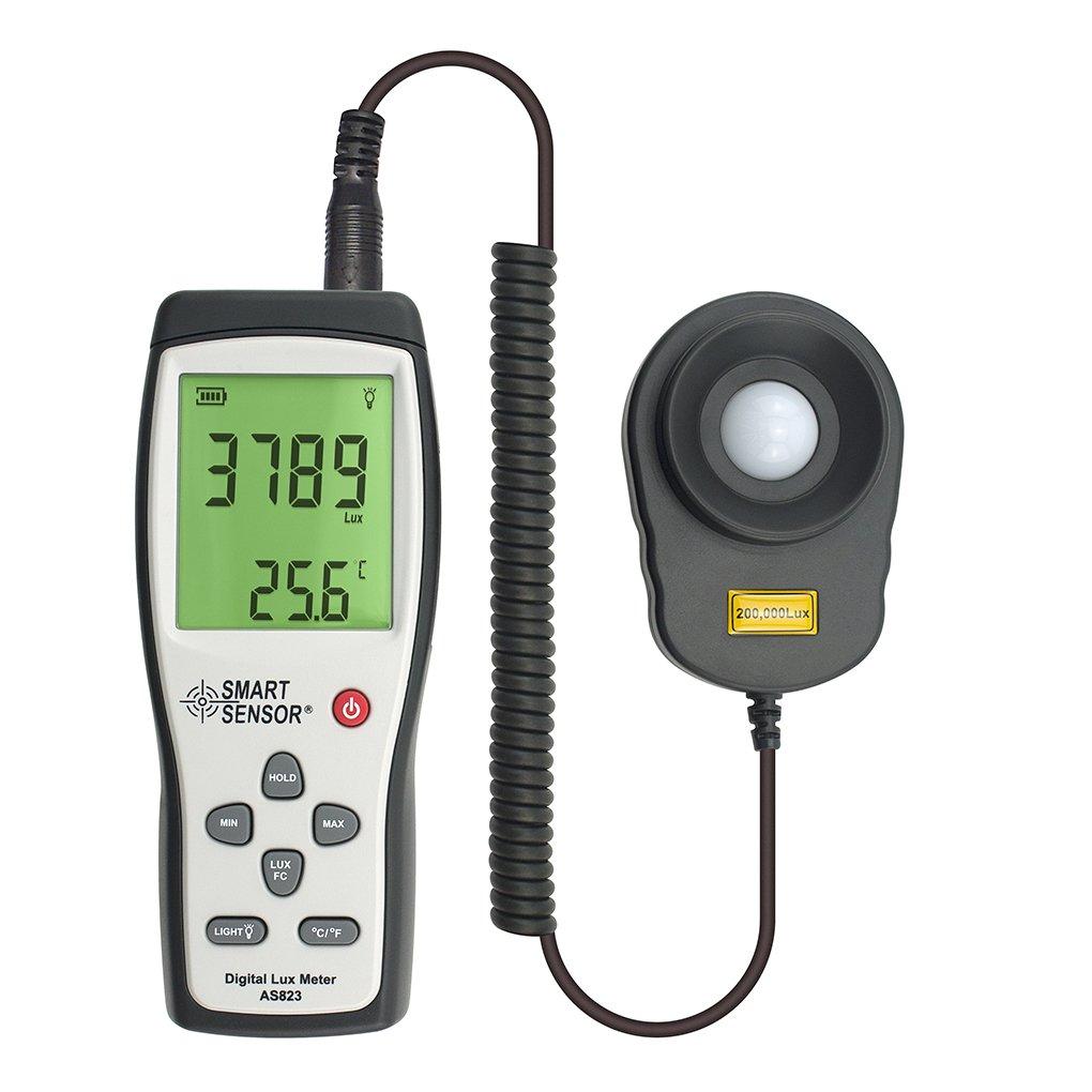 Konnon Smart Sensor Digital Split Type Lux Meter Light Illuminance Photometer 200000lux Illuminometer