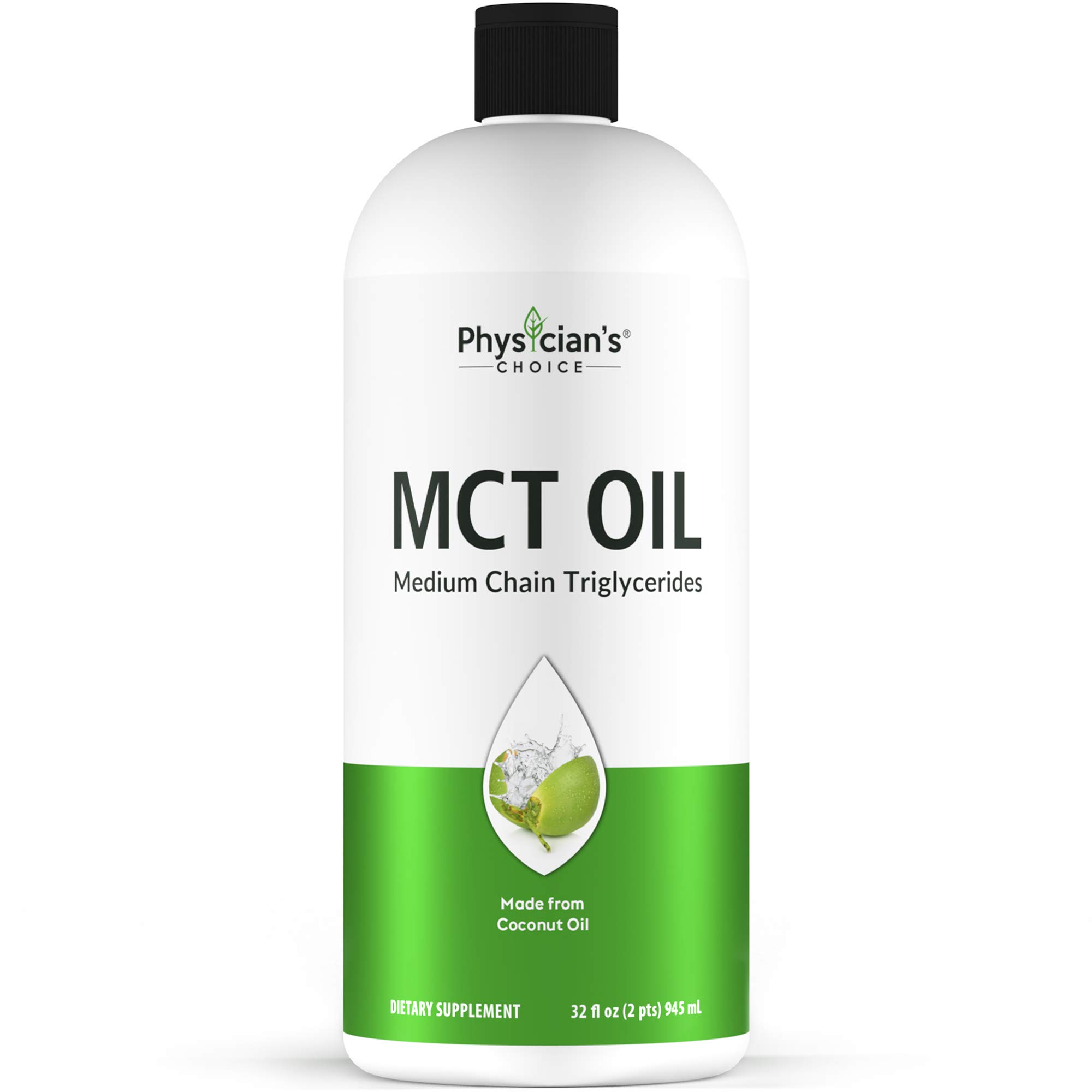 Dr Approved MCT Oil, 100% Pure, 2 Months Supply 32 OZ, Keto Friendly, Made from Coconut Oil, Brain and Body Fuel, Vegan, Gluten-Free, Non-GMO, Unflavored Liquid