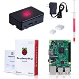 Raspberry Pi 3 Model B Kit with Black Case, Power Supply, Heatsink