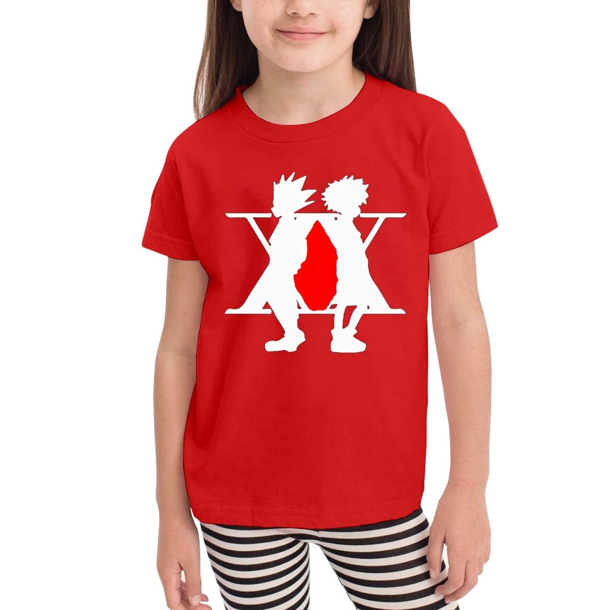 Hunter X Hunter Anime Manga Girls and Boys Crew T-Shirts 100/% Soft Cotton Short Shirts