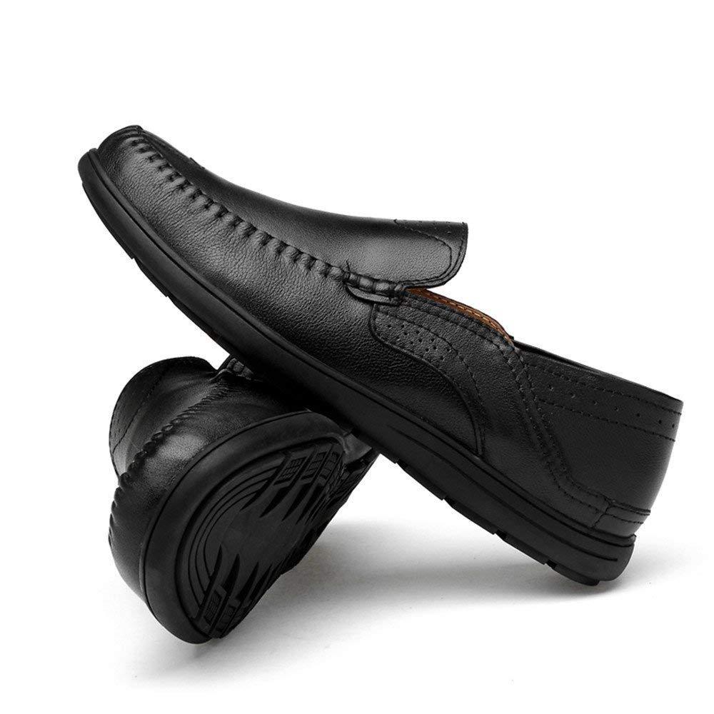 FuweiEncore Herren Mokassins Mokassins Mokassins Schuhe, Männer Fahren Penny Loafers Patch Vamp Slip-on lässig Stiefel Mokassins Soft Rubber Sohle (Farbe   Hollwo schwarz, Größe   46 EU) (Farbe   Hollwo schwarz, Größe   45 EU)  a3ad76