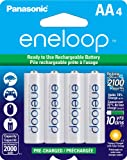 Panasonic Eneloop Aa New 2100 Cycle Ni-mh Pre-charged Rechargeable Batteries 4 Pack - Pe1