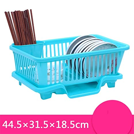 Muebles de cocina Bowl Shelf Bowl Rack plástico de una sola capa de drenaje plato plato