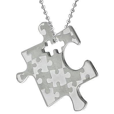 Amazon stainless steel autism awareness puzzle piece pendant 1 stainless steel autism awareness puzzle piece pendant 1 18 tall aloadofball Gallery