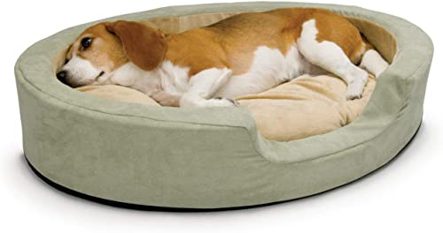 K H Pet Products Thermo-Snuggly Sleeper Heated Pet Bed Sage