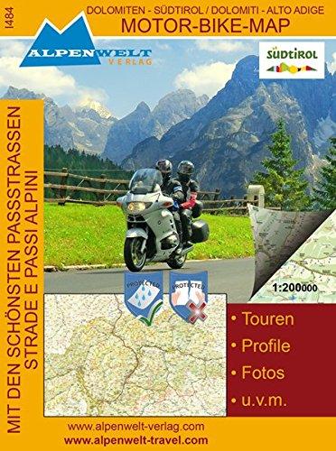 Motor Bike Map: Südtirol - Dolomiten: Dolomiti - Alto Adige Mit den schönsten Passstrassen