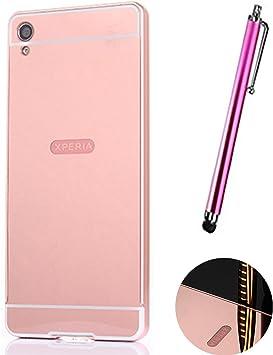 LXHGrowH Funda Espejo Aluminio Metal Carcasa para Sony Xperia XA Color Rosado: Amazon.es: Electrónica