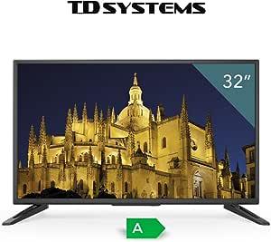 Televisores led HD 32 Pulgadas TDSystems K32DLT6H (Resolución 3840x2160/HDMI 3/VGA 1/EUR 1/USB/Reproductor y Grabador) TV Alta definición, televisor HD: Amazon.es: Electrónica