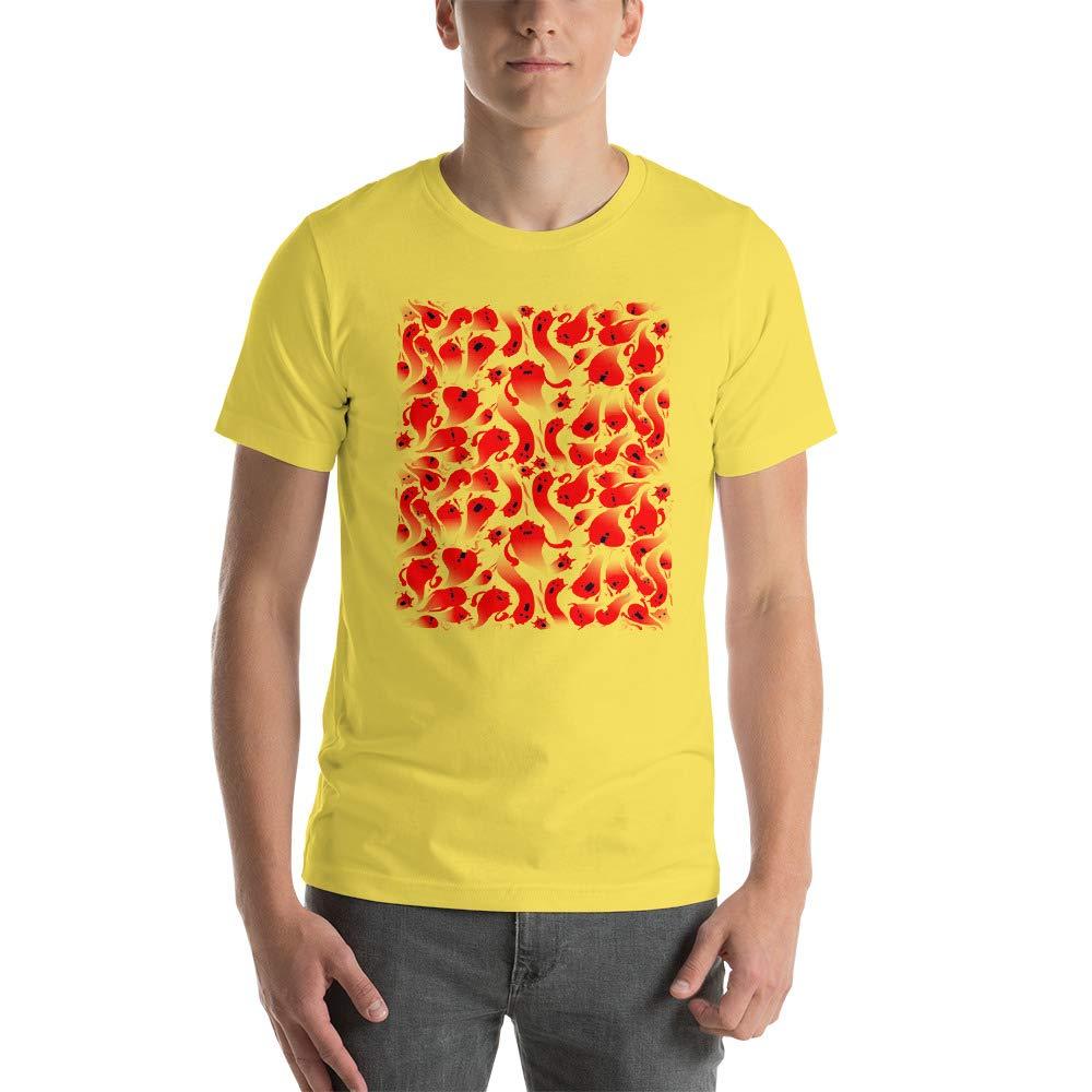 Red Cartoon Halloween Ghost Mens Ultra 100/% Cotton Short Sleeve T-Shirt 3001