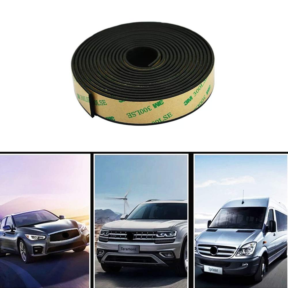 Lannmart 5 Meter Car Window Sealant Rubber Sunroof Triangular Waterproof Sealed Strips Seal Trim for Auto Vehicle Front Rear Windshield by Lannmart