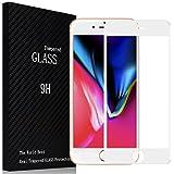 Kiiko iphone8 強化ガラスフィルム iphone 8 フィルム 3D Touch対応 全面 保護シート フルカバー 気泡ゼロ docomo au SoftBank iphone 8 液晶保護フィルム 日本旭硝子ガラス素材 ホワイト