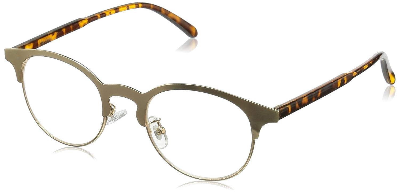 Lily Brownのメタルブロウメガネ。メタルのブロウがパッと目を引きますね。