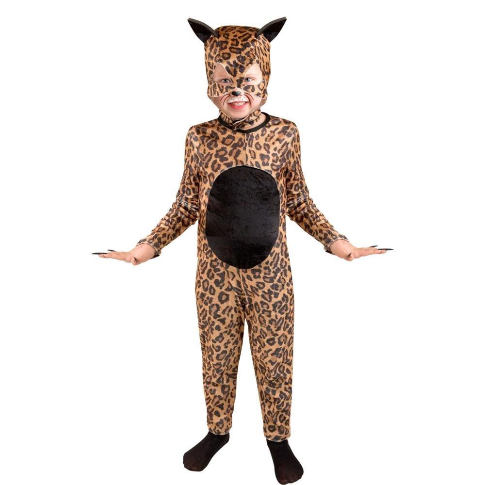 amazoncom childu0027s cheetah cat girl halloween costume size medium 810 toys u0026 games