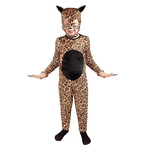 62b84f1060c Amazon.com: Child's Cheetah Cat Girl Halloween Costume (Size: Large ...
