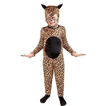 Amazon.com: Child\'s Cheetah Cat Girl Halloween Costume (Size ...
