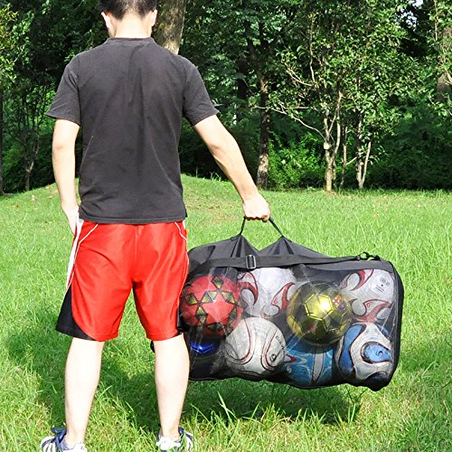Eco Walker Ball Bag Large Capacity (Holds 16 Soccer Balls) Heavy Duty Mesh Drawstring with Adjustable Shoulder Strap and Thick Handle by Eco Walker (Image #4)