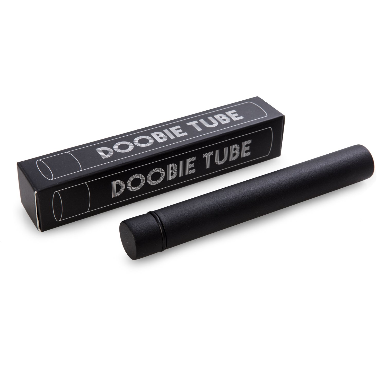 Doobie Doob Black Tube Steel Metal Air Tight Oder Resistant Stores Cannabis Marijuana King Sized Doobs Joints