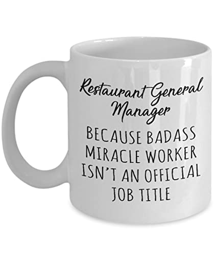 Gift For Restaurant General Manager