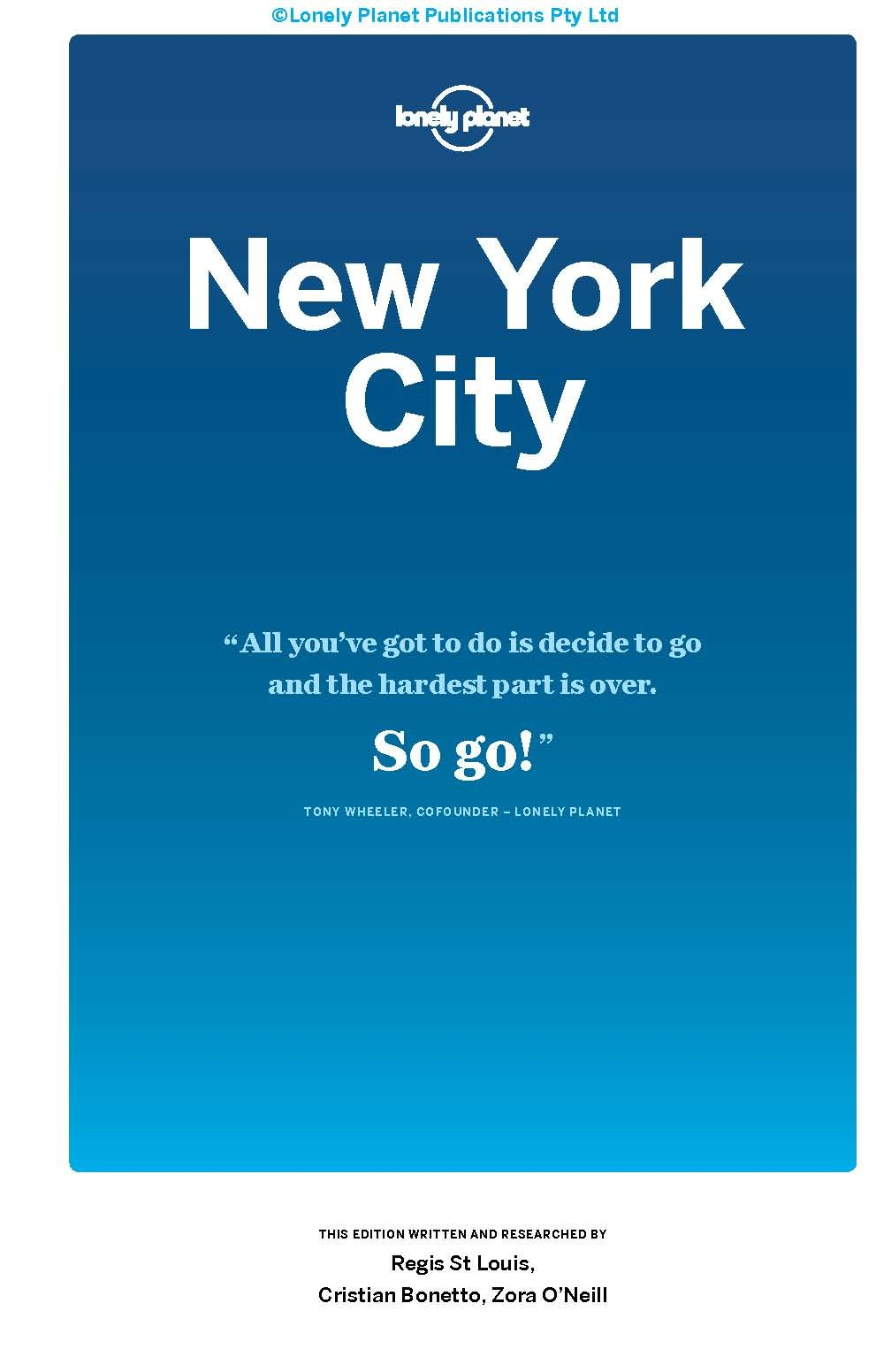 Lonely Planet New York City (Travel Guide): Lonely Planet, Regis St ...