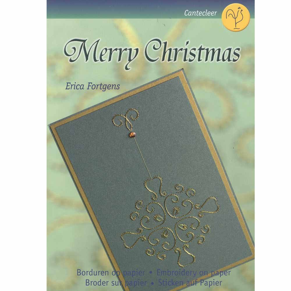 Merry Christmas Embroidery on Paper