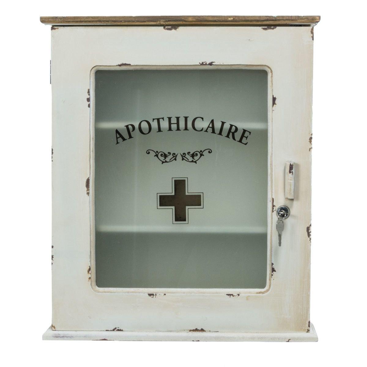 PureDay Armadietto dei medicinali bianco antico