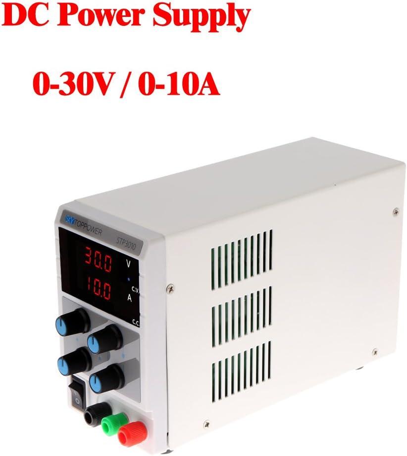 60Hz KKmoon Commutateur dAlimentation Commutateur de tension 4 chiffres bleu LED CC de Laboratoire 0-30V 0-10A CC Mini pr/écision r/églable AC 115V 230V 50