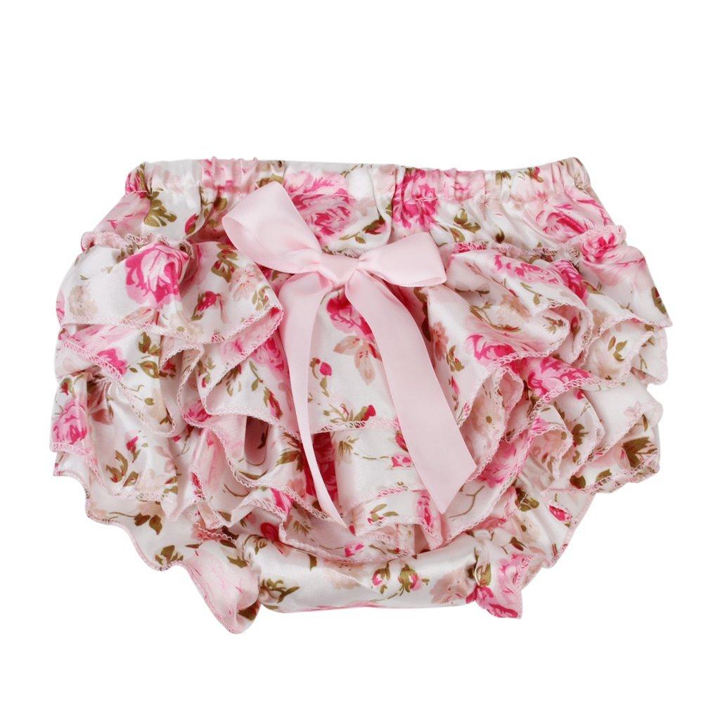 SODIAL(R) Baby Maedchen rosa bowknot Ruesche Hose Pumphose Windel decken - S 044462