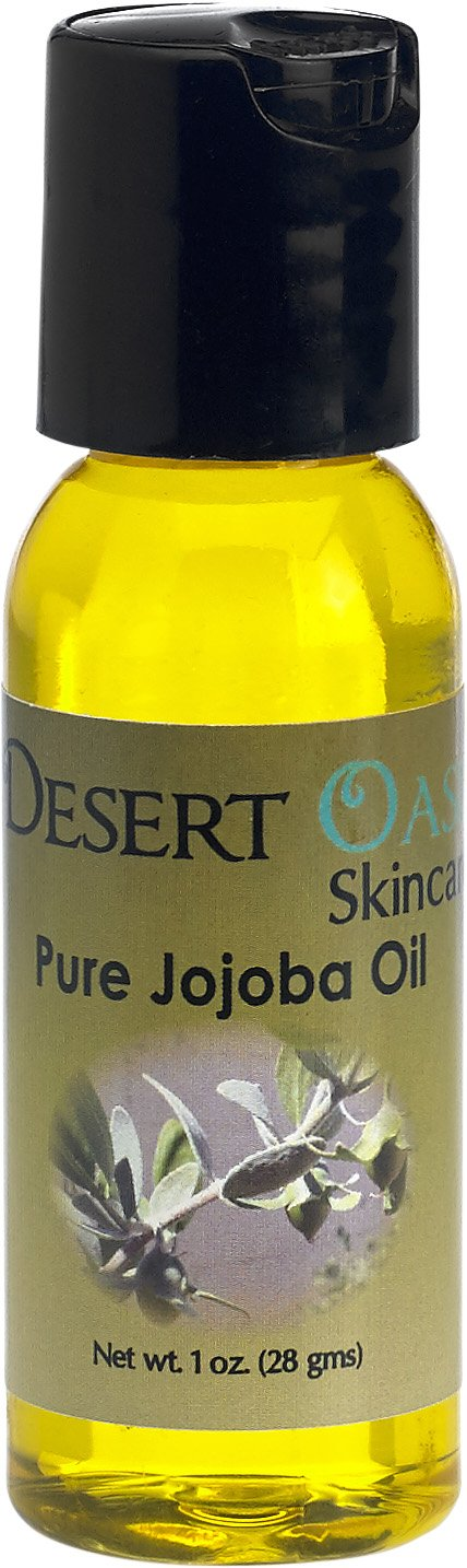 100% Pure Golden Jojoba Oil, 1 oz (29 ml), Cold Pressed, Not deodorized, All natural, Grown and pressed in USA Desert Oasis Skincare