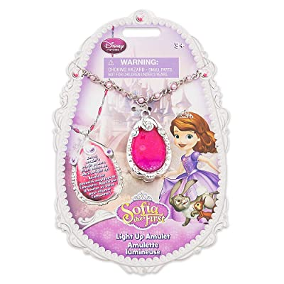 Sofia the First Light-up Amulet Disney Princess Necklace: Toys & Games