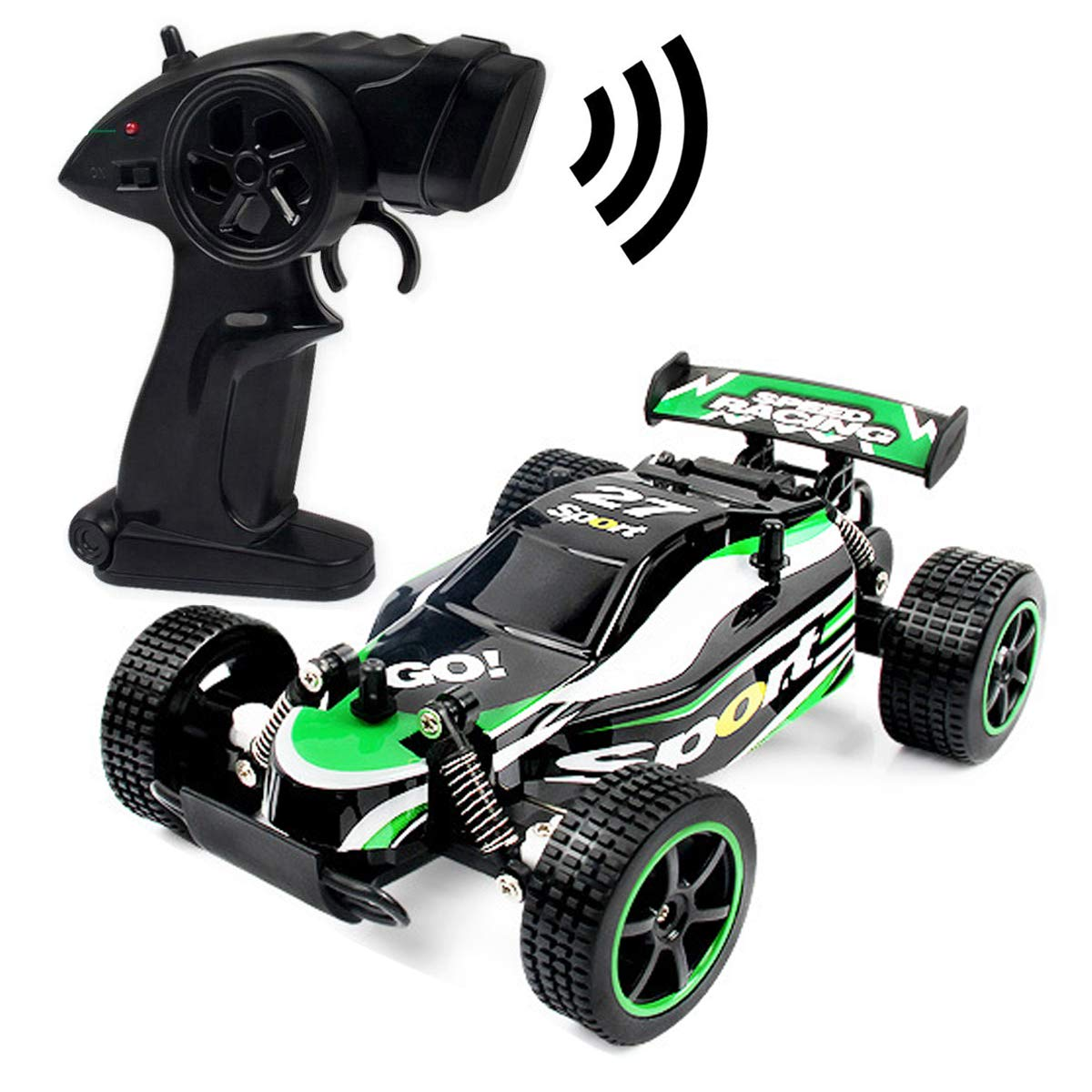 Blexy RC Cars Rremote Control Racing Car 2.4Ghz High Speed Rock Off-Road Vehicle 1:20 2WD Radio Remote Control Racing Toy Cars Electric Fast Race Buggy Hobby Car Green 211